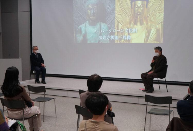 スーパークローン文化財の魅力は… 県立美術館で講演