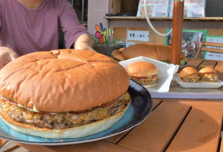 肉量は通常の10倍 裏メニュー「メガ馬鹿(うましか)」バーガー 上田